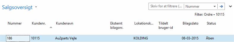 Direkte Levering_Salgsoversigt C5/NAV
