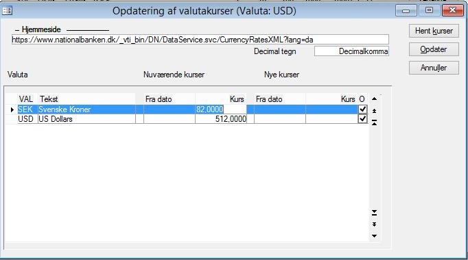 Valuta_Opdatering valutakurs_C5