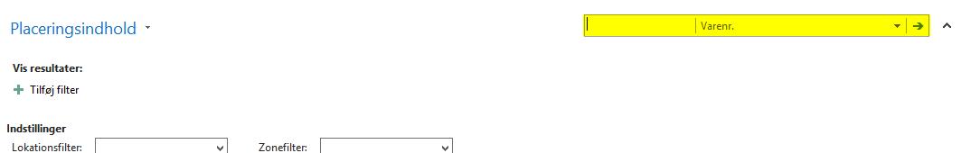 Filtreringsmulighed - tilføj funktion til rollecenteret