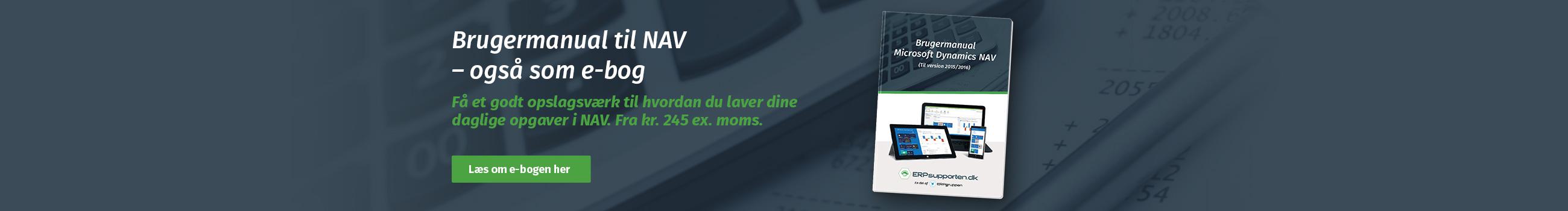 Køb brugermanual til Microsoft Dynamics NAV
