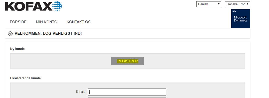 Lexmark portal - faktura indscanning
