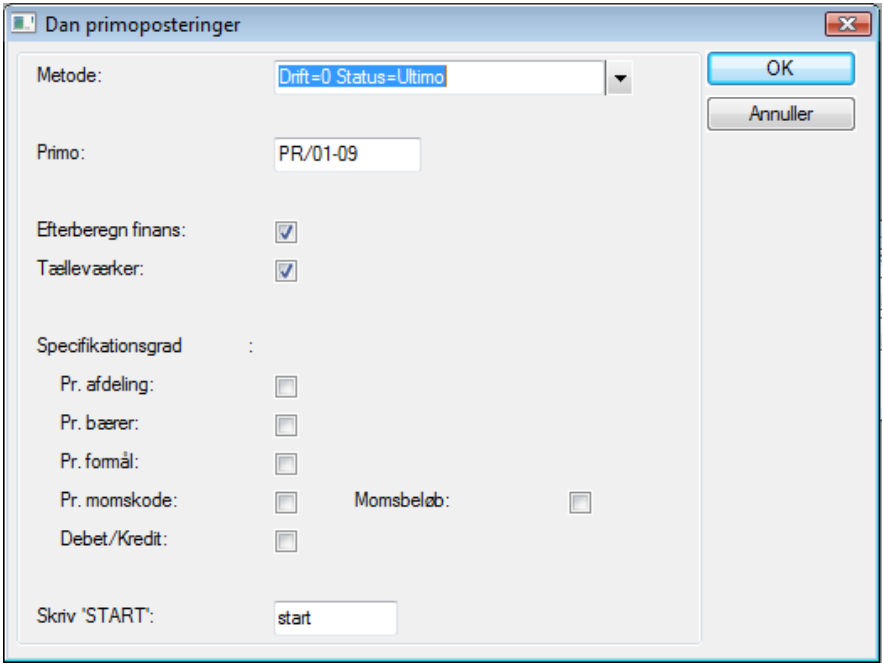 Dan primoposter - Afslut regnskabsår | Microsoft Dynamics C5_ERPsupportendk