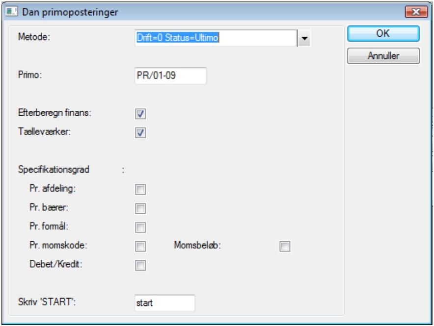 Dan primoposter - Afslut regnskabsår   Microsoft Dynamics C5_ERPsupportendk