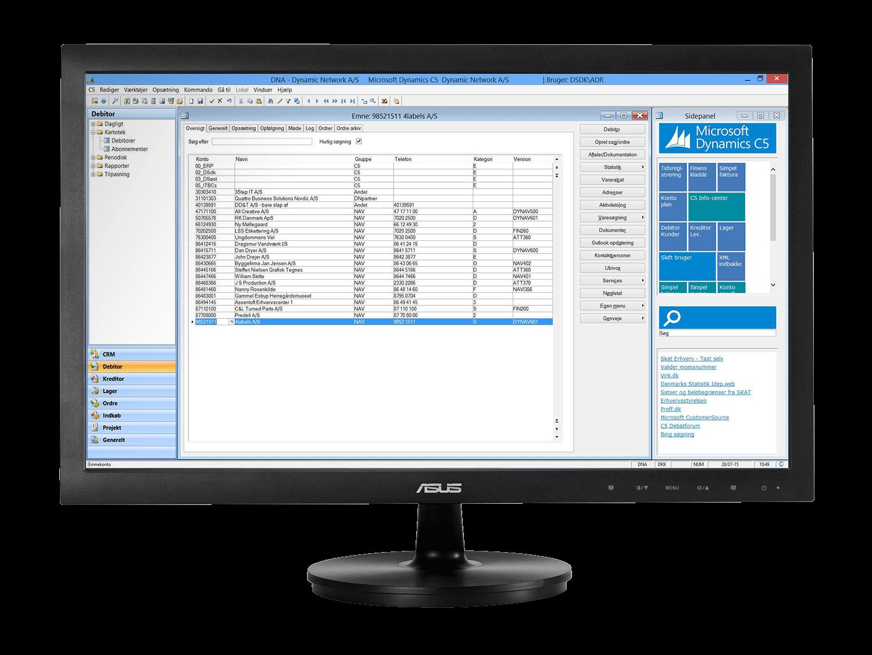 Microsoft Dynamics C5 regnskabsprogram