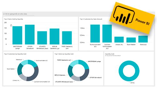 Rapporter fra Power BI i Dynamics 365 Business Central
