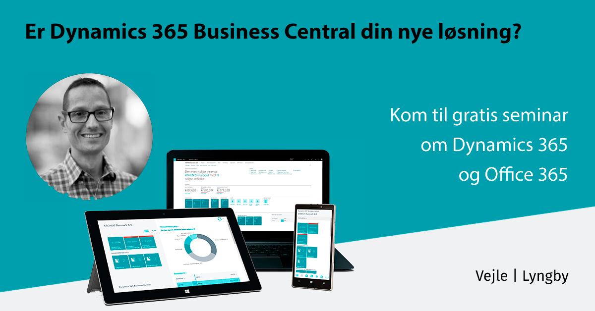 Gratis seminar Dynamics 365 Business Central