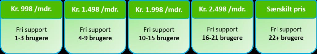 Supportaftale priser - ERPsupporten