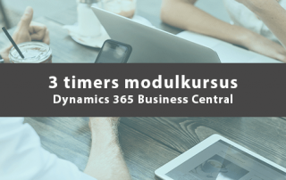 3 timers modulkursus Dynamics 365 Business Central