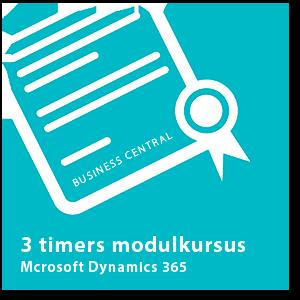 3-timers modulkursus Dynamics 365 Business Central
