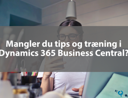 Kursuskalender Dynamics 365 Business Central – forår 2020
