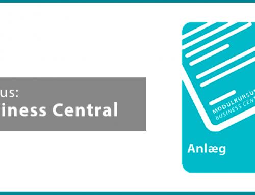 Nyt 3 timers modulkursus: Anlæg i Business Central