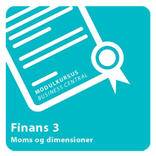 Modulkursus - Finans 3 Dynamics 365 Business Central