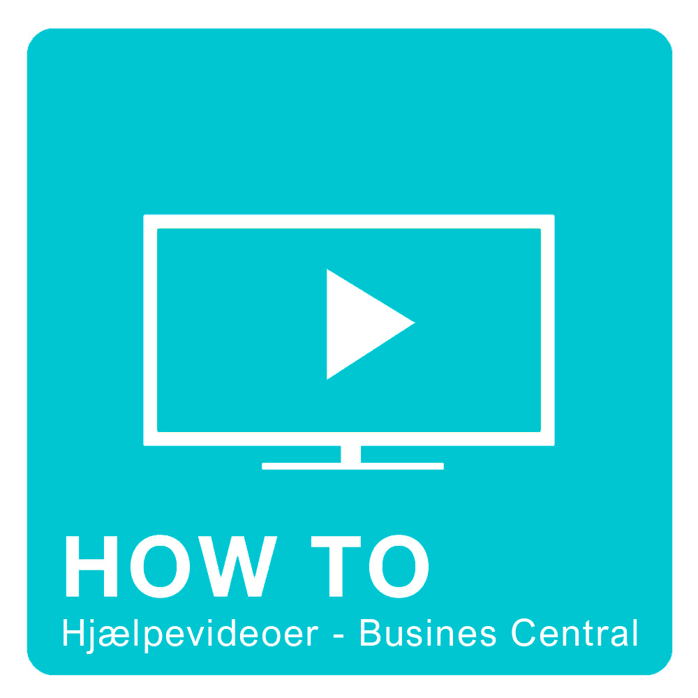 How-to video Dynamics 365 Business Central