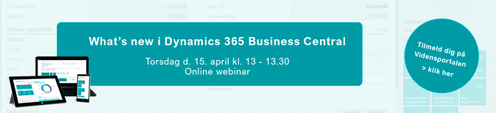 Tilmeld webinar - whats new i Dynamics 365 Business Central