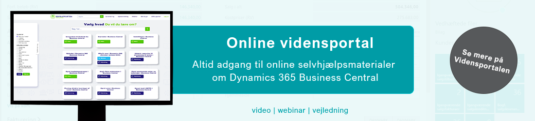 Gå til Vidensportalen - online træningsportal til Microsoft Dynamics